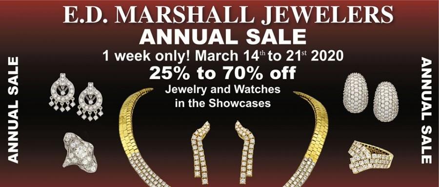 Ed Marshall Jewelers Annual Sale Sample Sale In Scottsdale